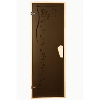 Дверь для бани и сауны Tesli Graphic 70X190