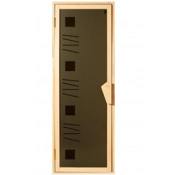 Дверь для бани и сауны Tesli Alfa art 70X190