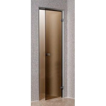 Дверь для турецкой бани (хаммам) Andres 80x190 бронза матовая