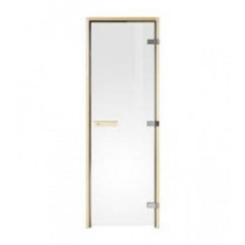 Двери для сауны Tylo Evole DGL 190х70 РАМА ИЗ ЕЛИ, ПРОЗРАЧНОЕ СТЕКЛО