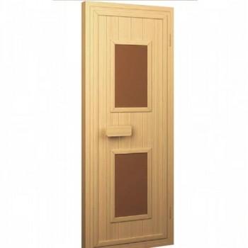 Двери Sauna Market 70x190 деревянные со стеклянным вставками