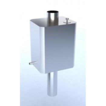 Бак для воды на дымоход из нержавейки ВБД – 50 Н