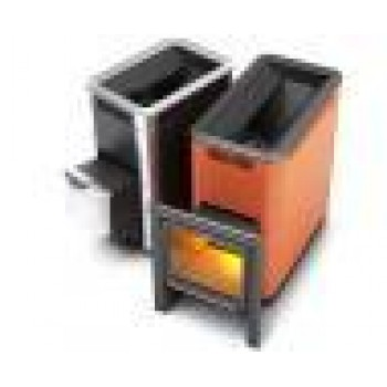 Печь для бани Термофор ТУНГУСКА 24 Антрацит (с вставками из нерж. стали)