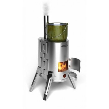 Портативная дровяная варочная печь Термофор ДУПЛЕТ-1 INOX (нерж. сталь)